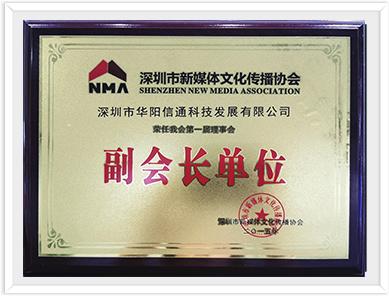 深圳市新媒体文化传播协会副会长单位
